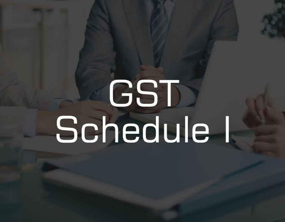 GST Schedule-1