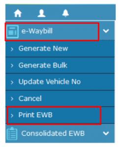 e-way bill print