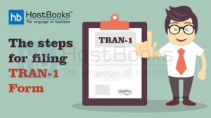 Step for filing GST tran-1 form