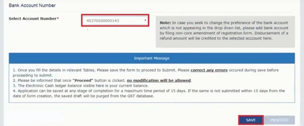 GST Refund Claim