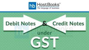 GST Debit Notes Credit Notes