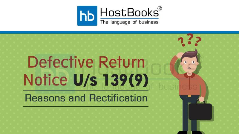 Defective Return Notice U/s 139(9)