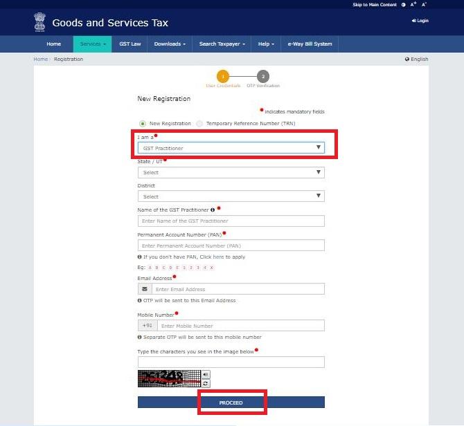 GST Practitioner Registration Service