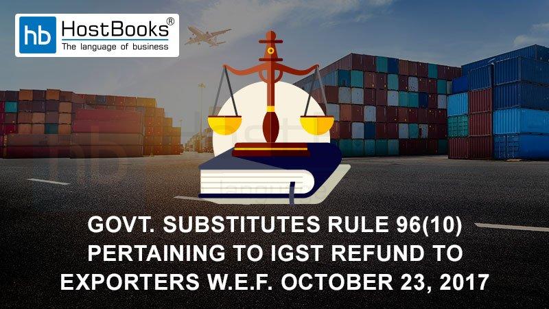 IGST refund to exporters