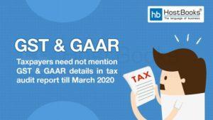 GST and GAAR