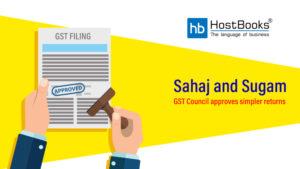 Sahaj Sugam GST Return