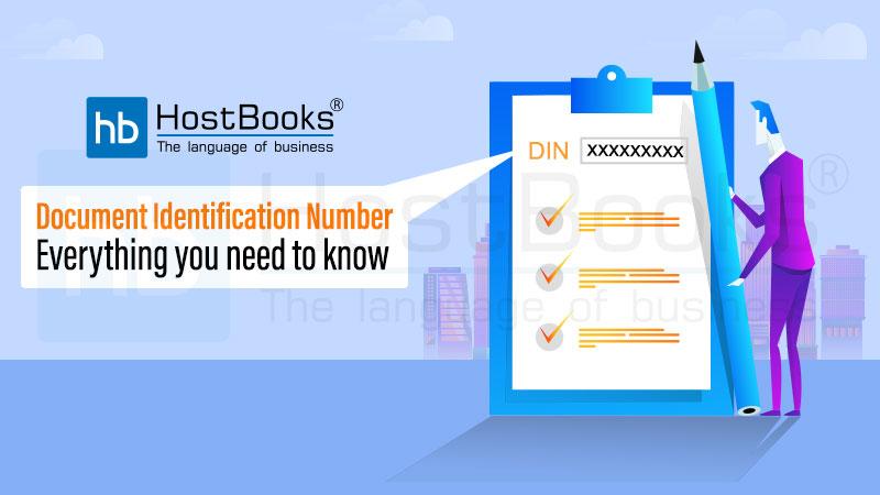 Document Identification Number under GST