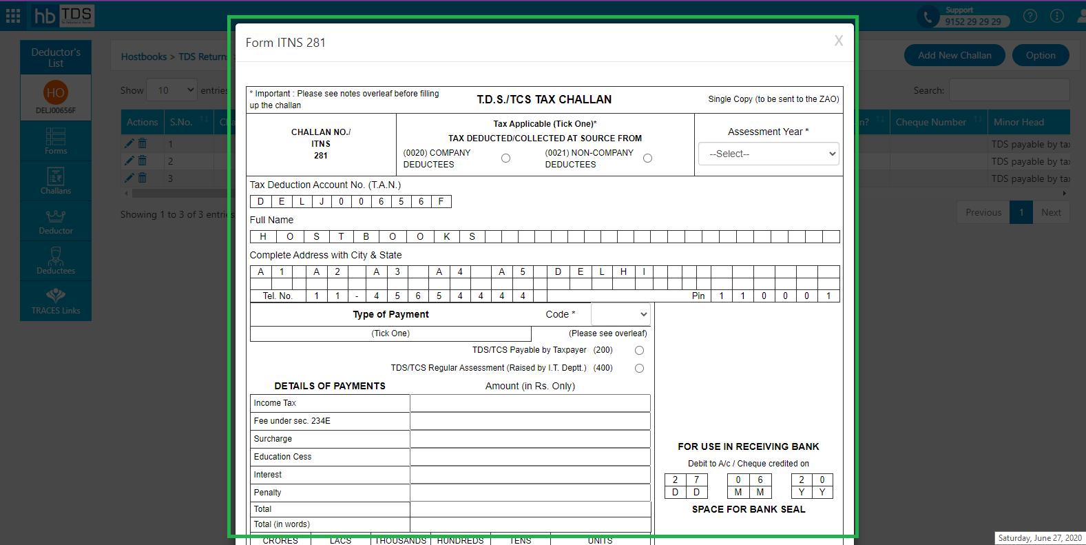 TDS software