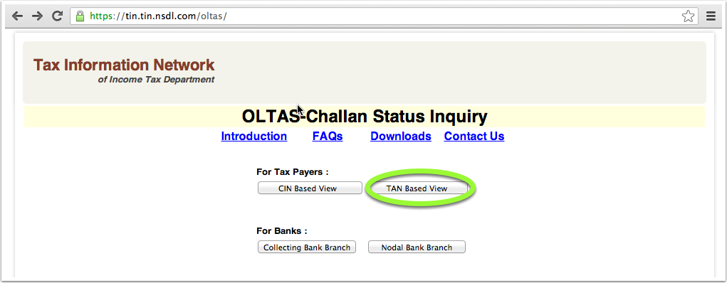 download the challan file