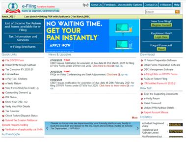 income tax e-filing