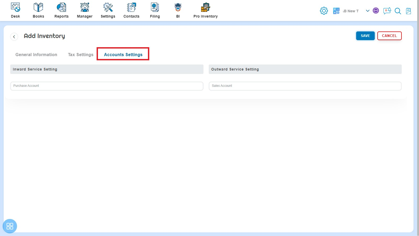 provision-to-configure-purchase-and-sales-account-setting-service-inventory